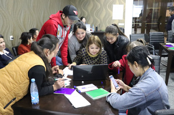 What access to education do school children have in rural Kyrgyzstan?